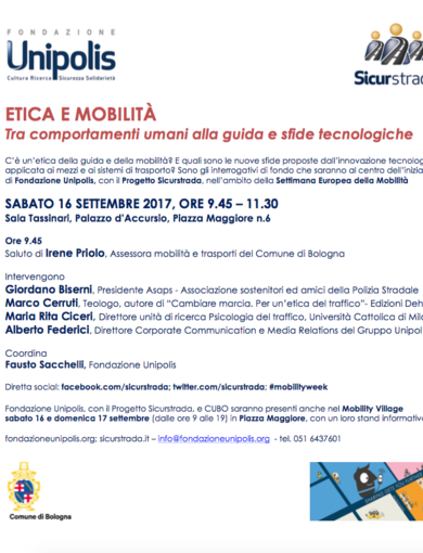 Ethics and Mobility - Programme 16 September 2017